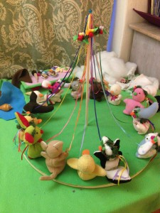 Leila's Poekies dancing around the May Pole.