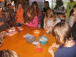 We all made lovely bracelets with bells and pearls.