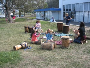 Random drumming with Anna.