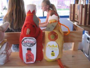 Ketchup and mustard.