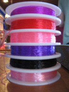 Very colorful stretchy-string
